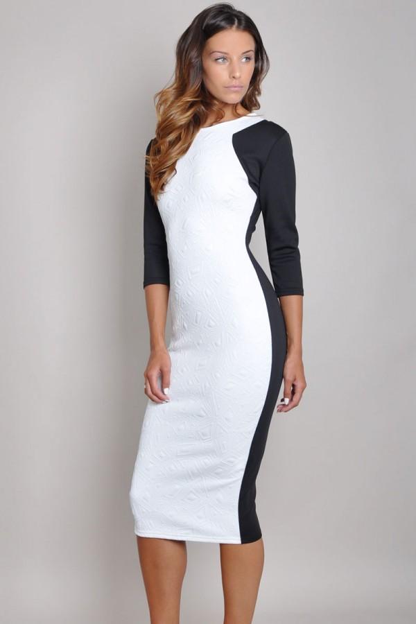 TFNC Marsie Textured Body Con