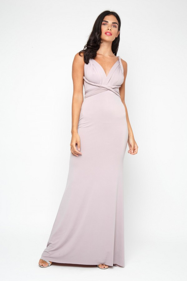 TFNC Multi Way Grey Maxi Dress
