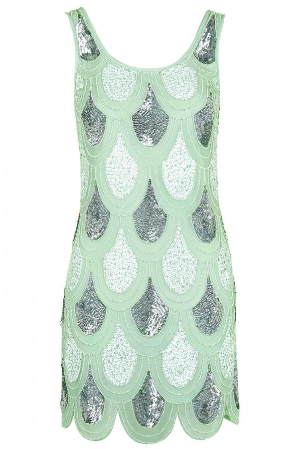 Lace & Beads Angela Green Sequin Dress