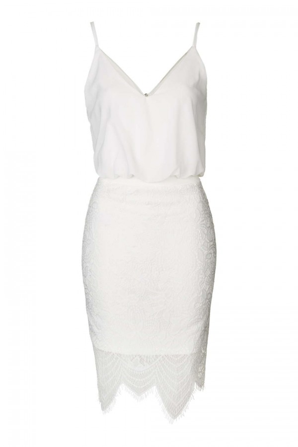TFNC Ania White Cami Dress