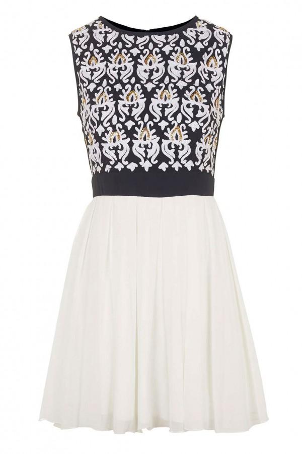 TFNC Ariella Cream Dress