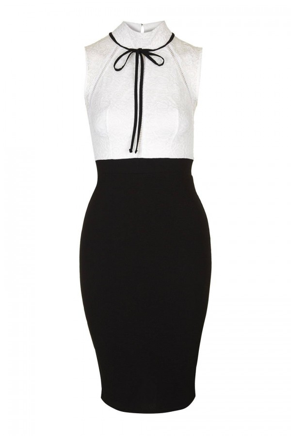 TFNC Noralia Black Midi Dress