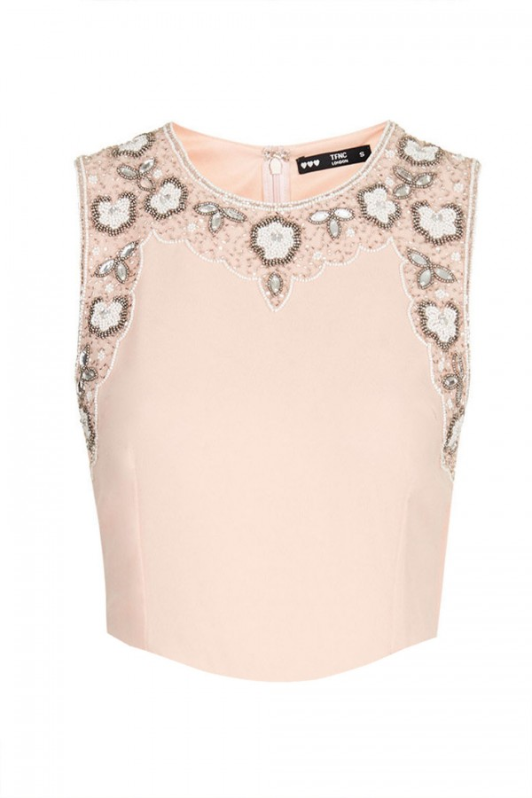 Lace & Beads Becky Pink Top