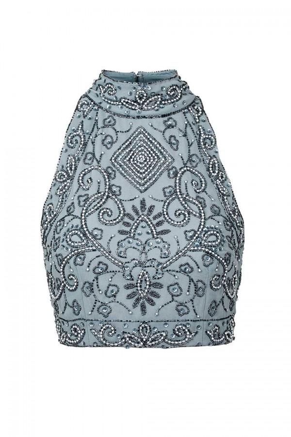 Lace & Beads Paula Grey Top