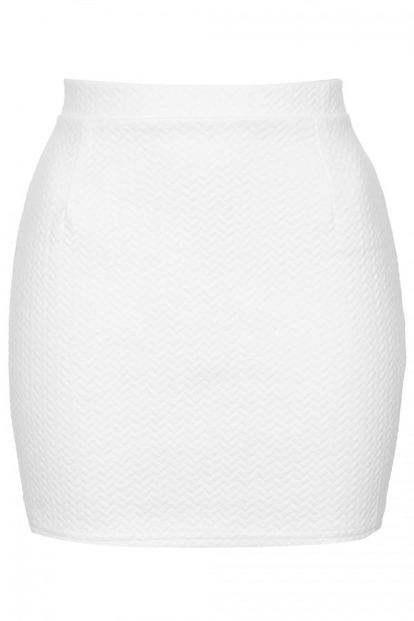 TFNC Noe White Mini Skirt