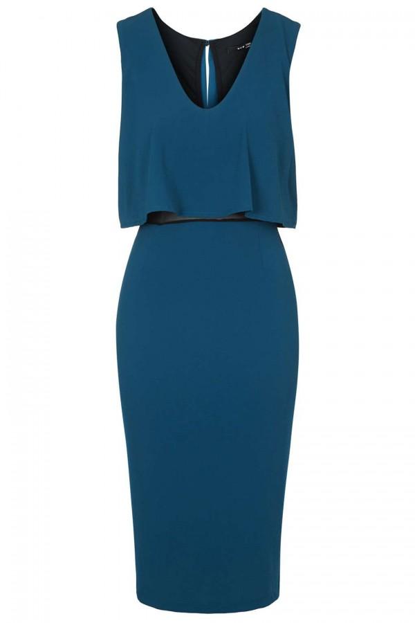 TFNC Nathe Blue Midi Dress