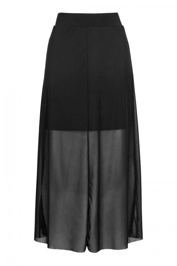 TFNC Manish Black Midi Skirt