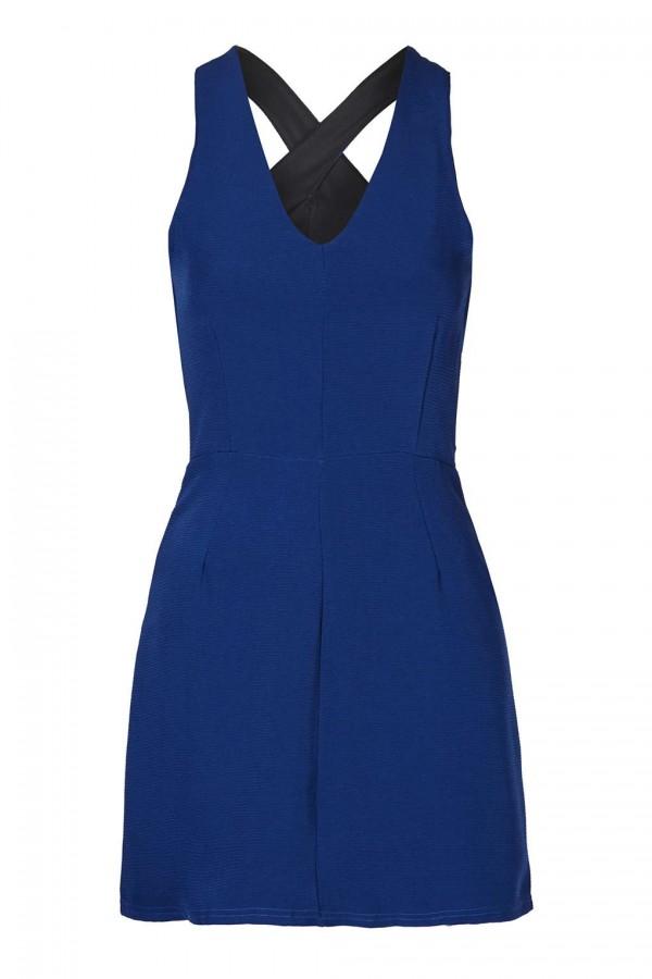 TFNC Mylia Blue Mini Dress