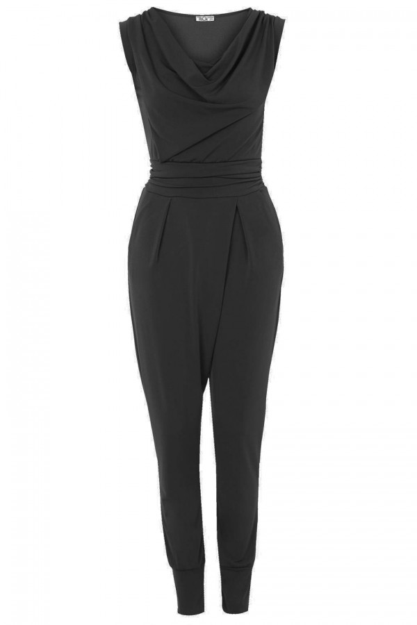 WalG Cowl Neck Black Jumpsuit