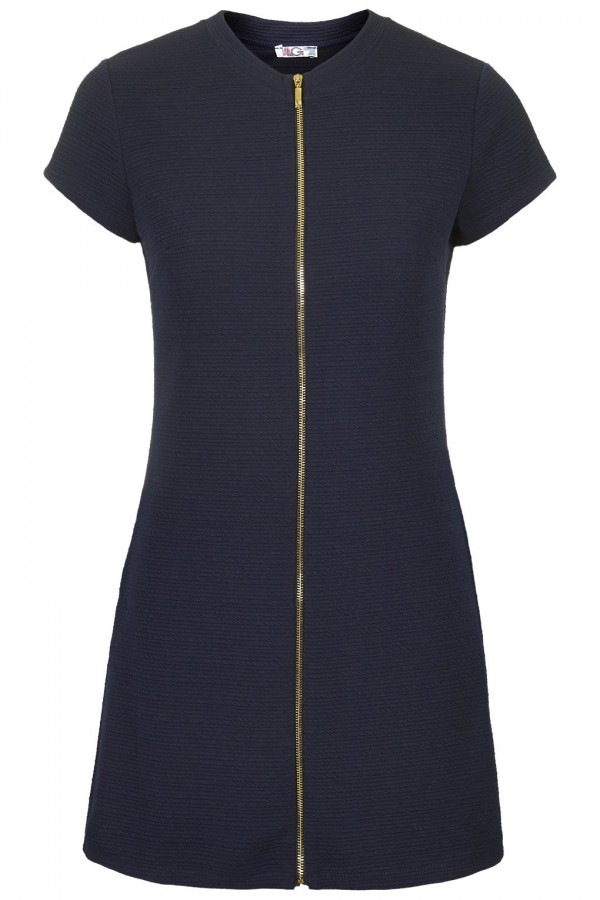 WalG Zip Front Shift Dress