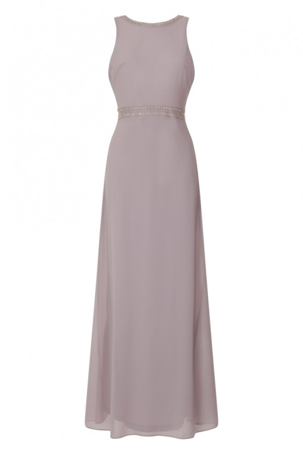 TFNC Ava Grey Maxi Embellished Dress