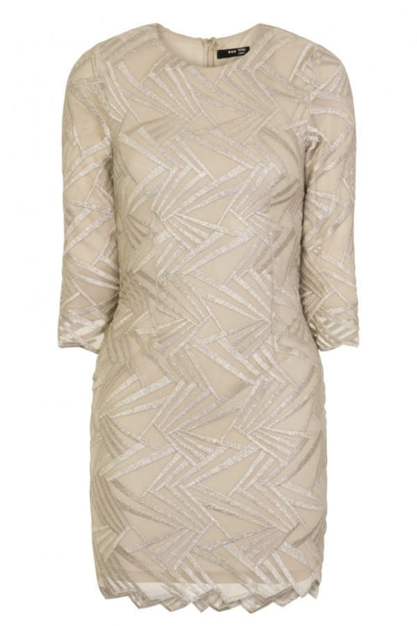 TFNC Paris Geometric Nude Dress