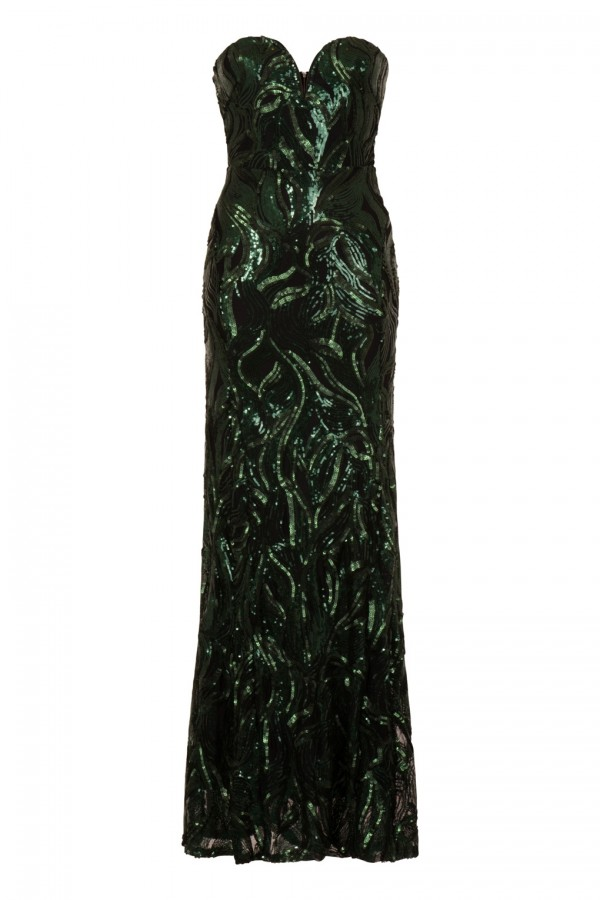 TFNC Gaynor Green Sequin Maxi Dress