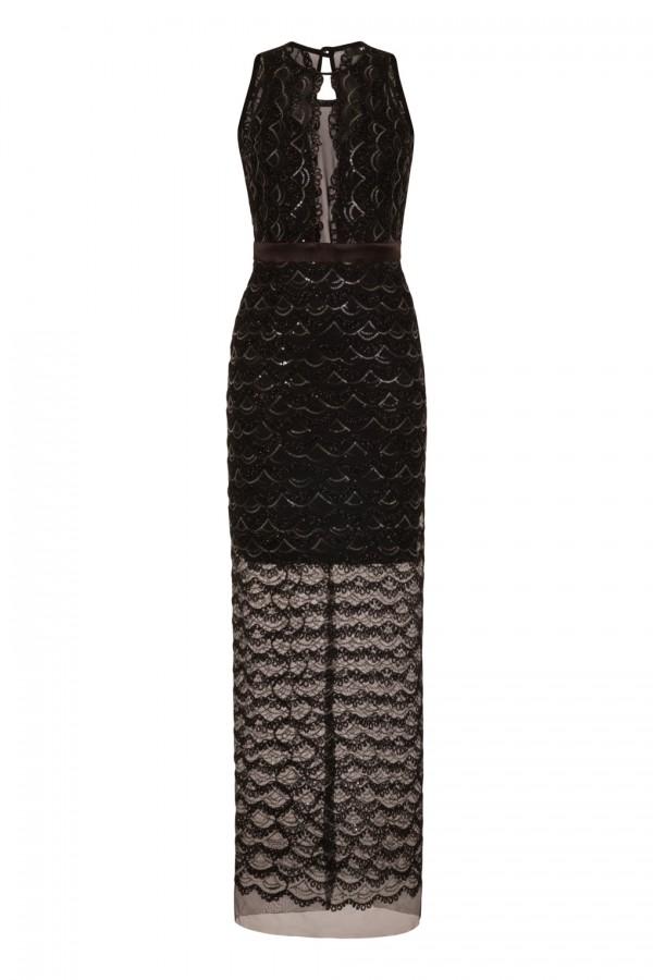 TFNC Nicki Embellished Black Maxi Dress