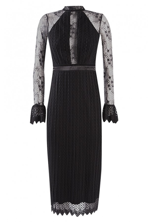 TFNC Nolita Black Midi Dress
