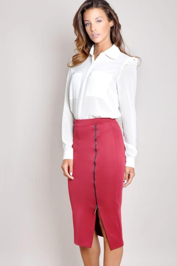 TFNC Isma Side Split Midi Skirt
