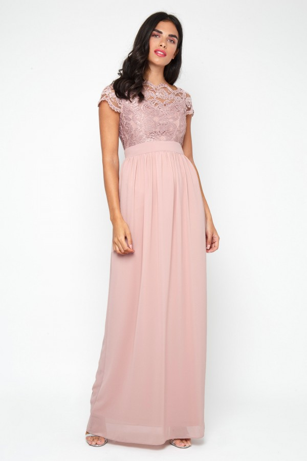 TFNC Abilina Pale Mauve Maxi Dress
