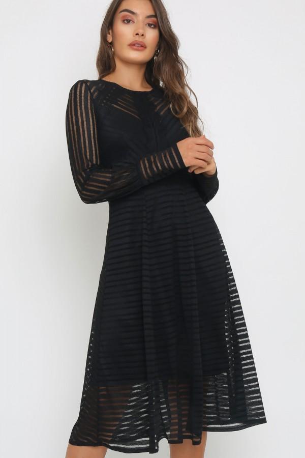 TFNC Evie Black Midi Dress