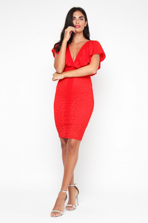 TFNC Samuella Red Midi Dress