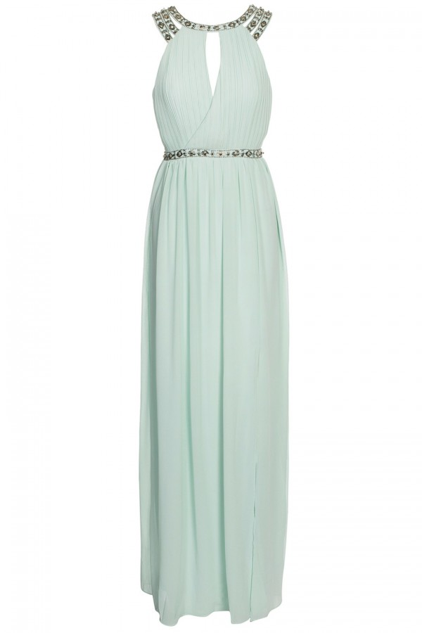 TFNC Rio Mint Maxi Embellished Dress