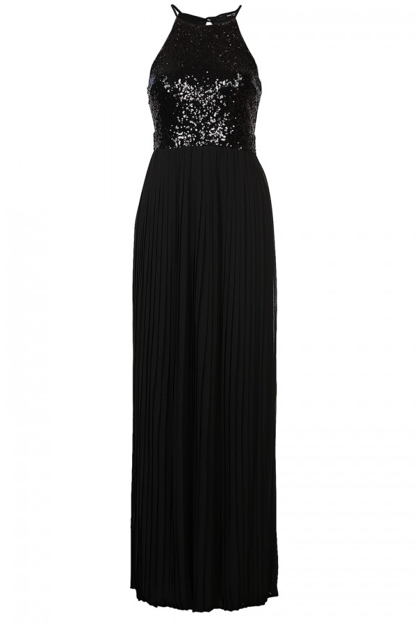 TFNC Comet Black Sequin Maxi Dress