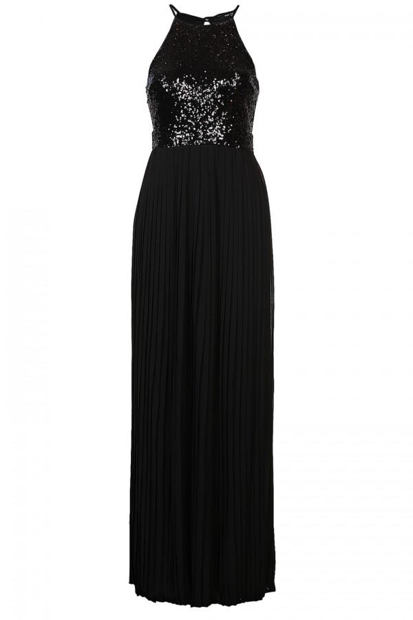 TFNC Comet Black Sequin Maxi Dress