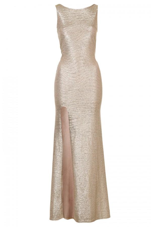 TFNC Fatima Gold Maxi Dress