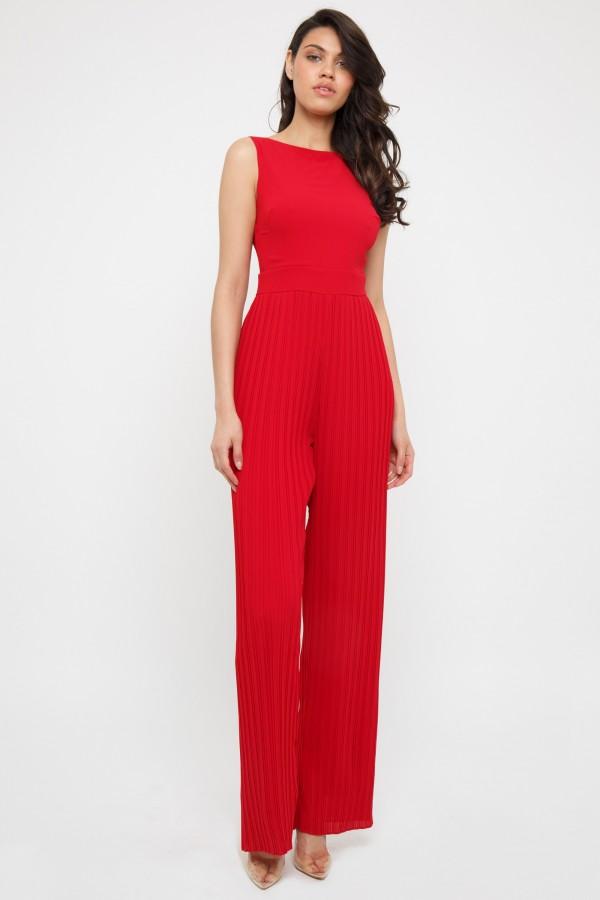TFNC Halannah Red Jumpsuit