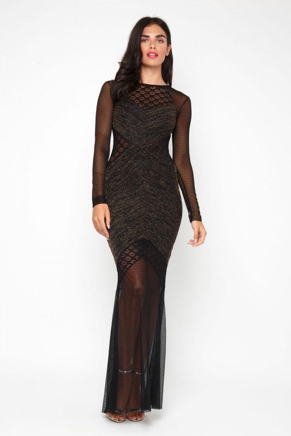 TFNC Basa Black Maxi Dress
