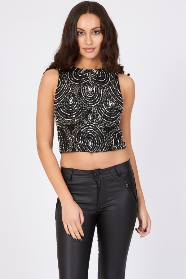 Lace & Beads Daisy Top
