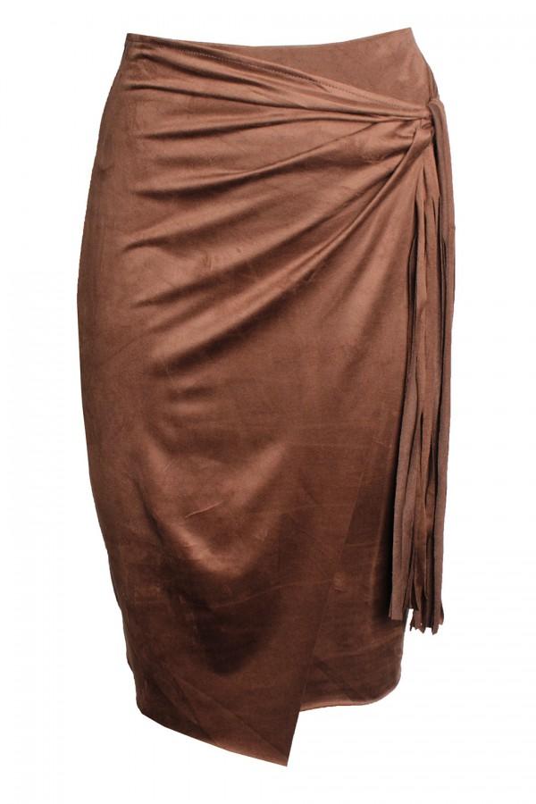 TFNC Noreen Tan Midi Skirt