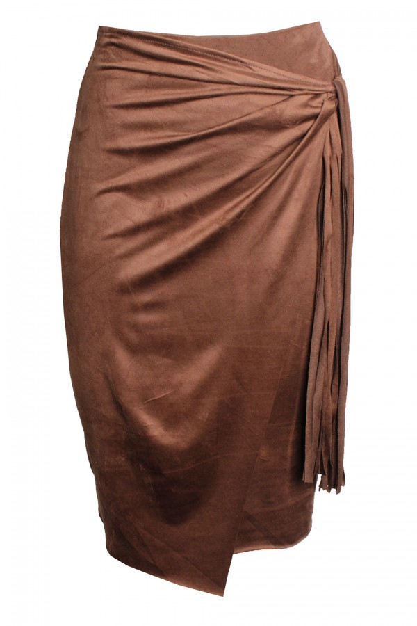 TFNC Noreen Tan Midi Skirt