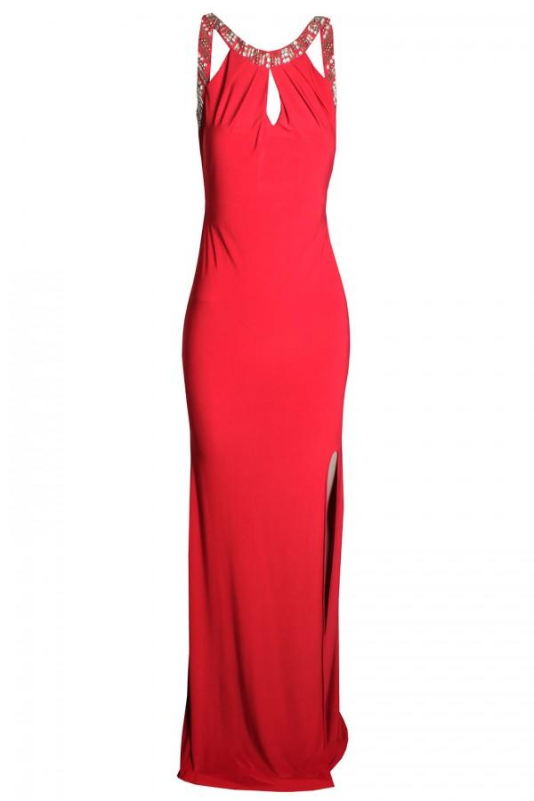 TFNC Samantha Red Maxi Embellished Dress