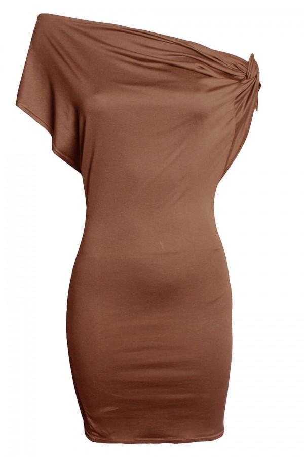 TFNC Nata Tan Dress