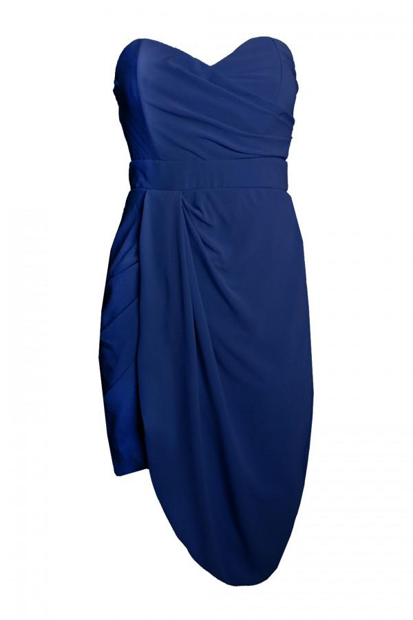 TFNC Dolly Navy Bandeau Dress