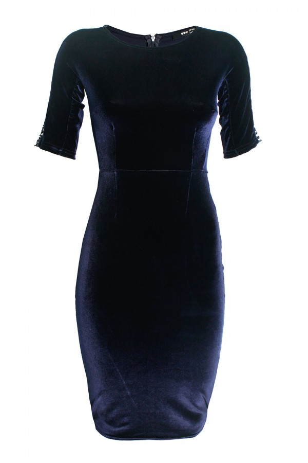 TFNC Navy Velvet Dress