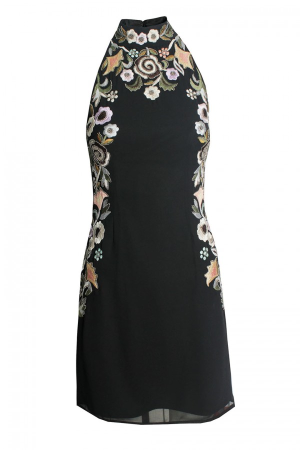 Lace & Beads Priscila Black Dress