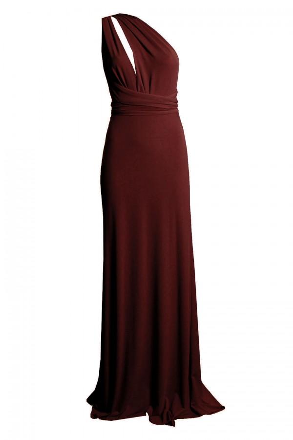 TFNC Multi Way Burgandy Maxi Dress