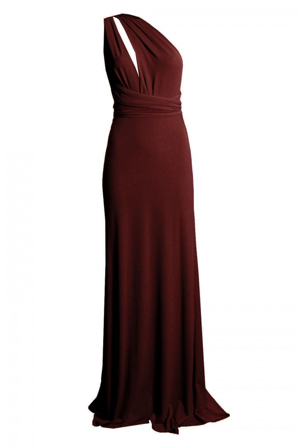 TFNC Multi Way Burgundy Maxi Dress