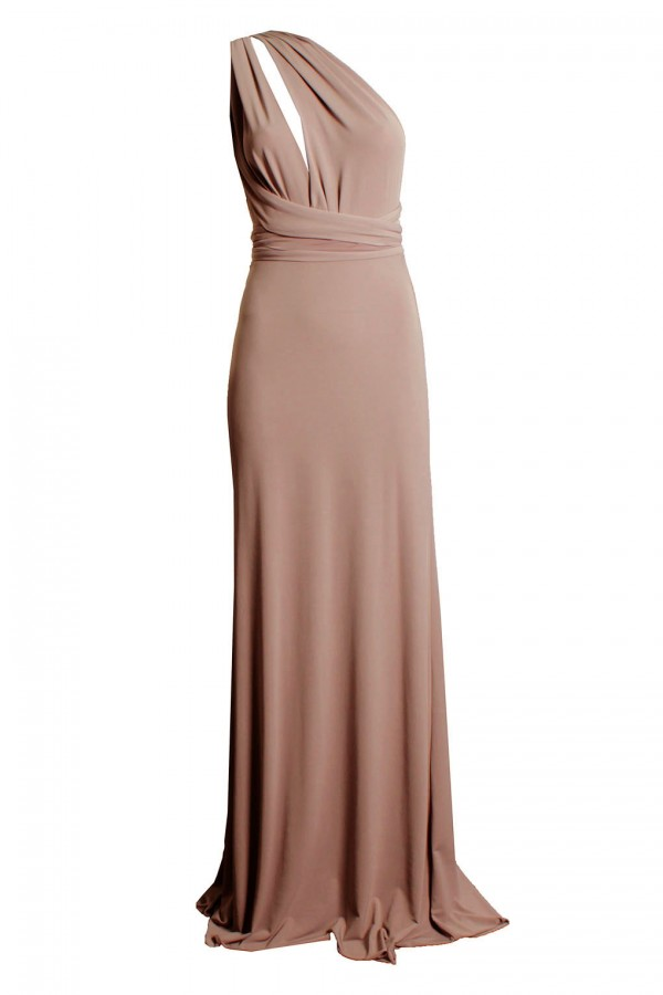 TFNC Multi Way Nude Maxi Dress
