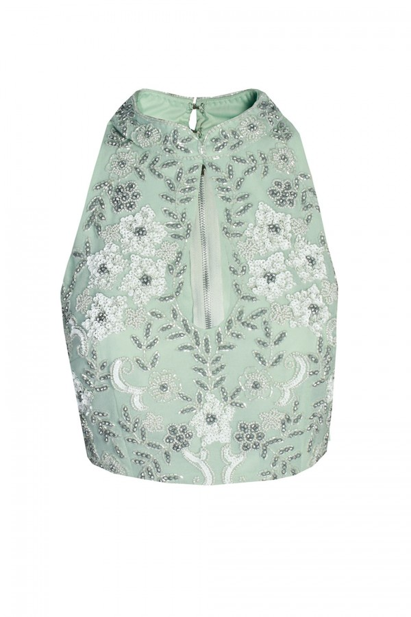 Lace & Beads Beverly Mint Top