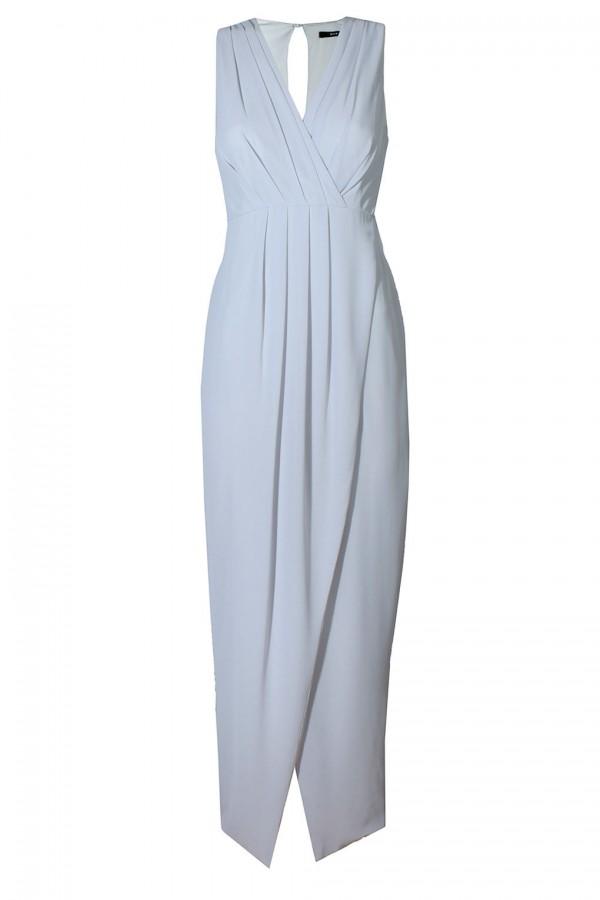 TFNC Dixie Grey Maxi Dress