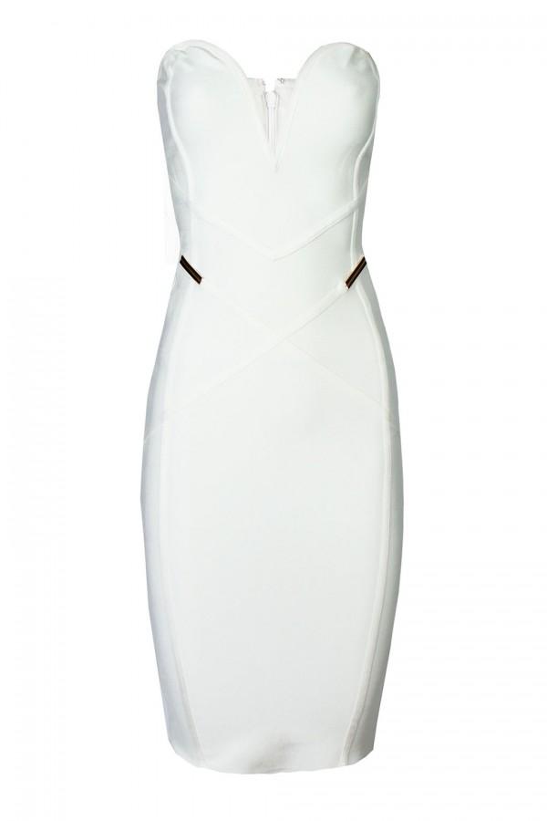TFNC Karolina Cream Bandage Dress
