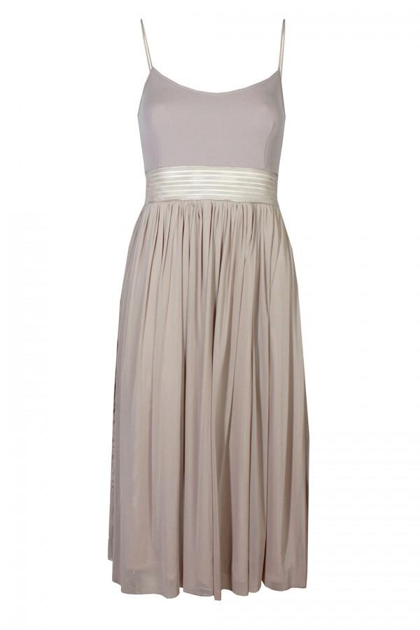 TFNC Elza Beige Midi Dress