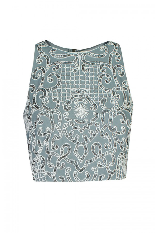 Lace & Beads Penny Blue Top