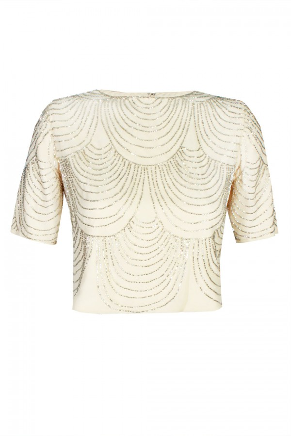 Lace & Beads Opal Cream Top