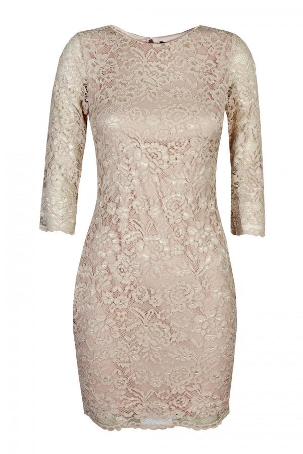 TFNC Paris Lace Mocha Dress