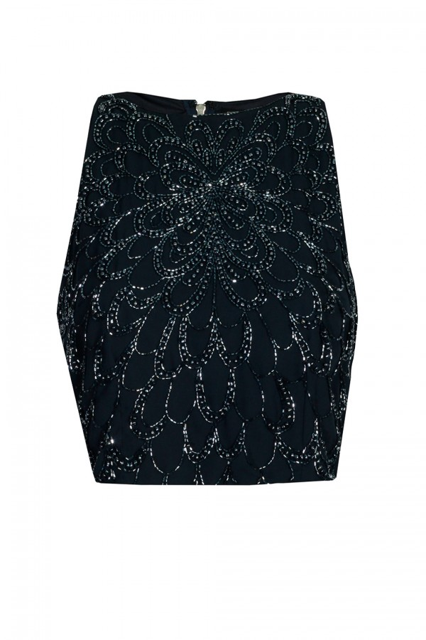 Lace & Beads Ablienne Navy Top