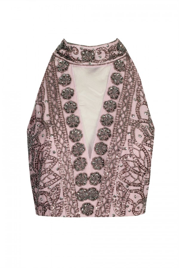 Lace & Beads Twilight Pink Top