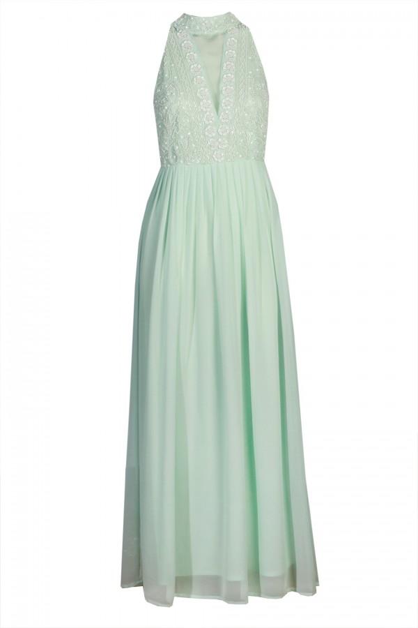 Lace & Beads Twilight Mint Maxi Dress